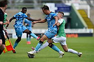 Kane Wilson (2) of Forest Green Rovers battles for possession during the Pre-Season Friendly match between Yeovil Town and Forest Green Rovers at Huish Park, Yeovil, England on 31 July 2021.