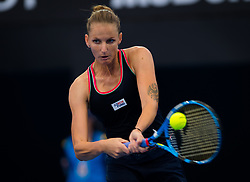 December 31, 2018 - Brisbane, AUSTRALIA - KAROLINA PLISKOVA of the Czech Republic in action against Yulia Putintseva of Kazakhstan during their first-round match at the 2019 Brisbane International WTA Premier tennis tournament. Pliskova won 4:6, 6:3, 6:4.  (Credit Image: © AFP7 via ZUMA Wire)