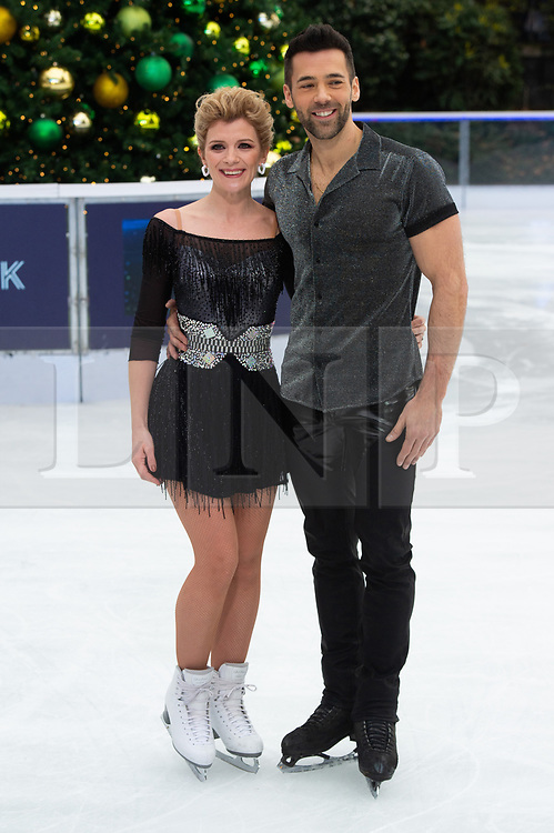 © Licensed to London News Pictures. 18/12/2018. London, UK. Jane Danson and Sylvain Longchambon attends a photocall for the launch of ITV's Dancing On Ice new series. Photo credit: Ray Tang/LNP