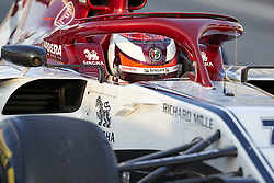 February 18, 2019 - Spain - Kimi Raikkonen (Alfa Romeo Sauber F1 Team) seen in action during the winter test days at the Circuit de Catalunya in Montmelo  (Credit Image: © Fernando Pidal/SOPA Images via ZUMA Wire)