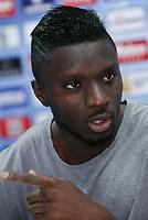 Karim Abdoul Yoda during his official presentation as a new Getafe´s player in Getafe, Spain. October 22, 2014. (ALTERPHOTOS/Victor Blanco)