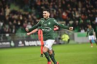 SOCCER : Saint Etienne vs Caen - League 1 Conforama - 01/27/2018<br /> Joie de Remy Cabella (saint etienne)  <br /> <br /> Norway only