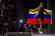 LAS VEGAS, NV - JULY 8:  Julianna Pena walks to the scale during the UFC 200 weigh-ins at T-Mobile Arena on July 8, 2016 in Las Vegas, Nevada. (Photo by Cooper Neill/Zuffa LLC/Zuffa LLC via Getty Images) *** Local Caption *** Julianna Pena