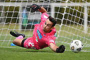 Auckland City FC's Alfie Rogers saves a penalty kick in the Handa Premiership football match, Hawke's Bay United v Auckland City FC, Bluewater Stadium, Napier, Sunday, January 31, 2021. Copyright photo: Kerry Marshall / www.photosport.nz