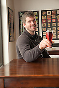 In the tasting room at Wandering Aengus Cidery in Salem, Oregon.