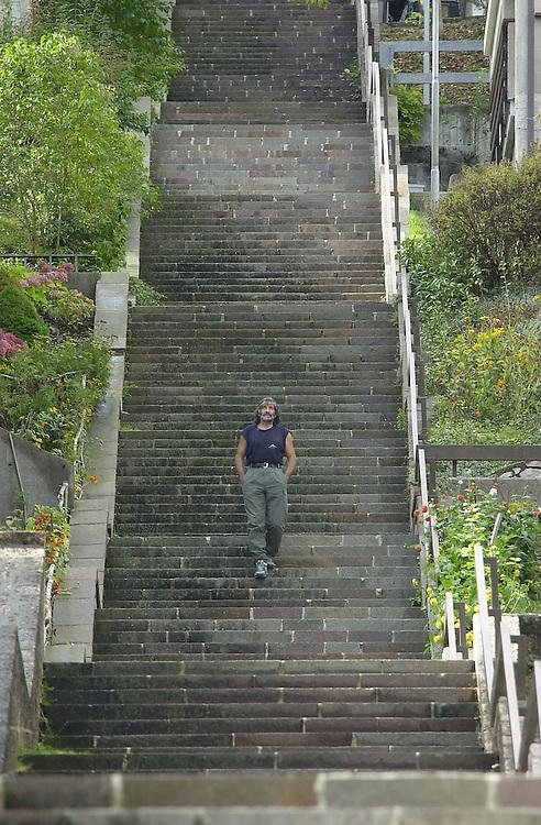 20 OCT 2004 - Erto (PN) - Mauro Corona, scrittore, alpinista, scultore :-: Italian writer, sculptor and climber Mauro Corona.