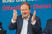18 FEB 2016, BERLIN/GERMANY:<br /> Frank Bsirske, ver.di Bundesvorsitzender, Pressekonferenz zur Einkommensrunde oeffentlicher Dienst von Bund und Kommunen 2016, Melia Hotel<br /> IMAGE: 20160218-01-019