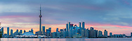 60912-00307 Toronto skyline at dusk from Toronto Island Park Toronto, Ontario Canada