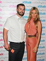 Simon Dunn & Katie Price, Attitude Magazine's Hot 100 Summer Party, The Rumpus Room at the Mondrian Hotel, London UK, 20 July 2015, Photo by Brett D. Cove