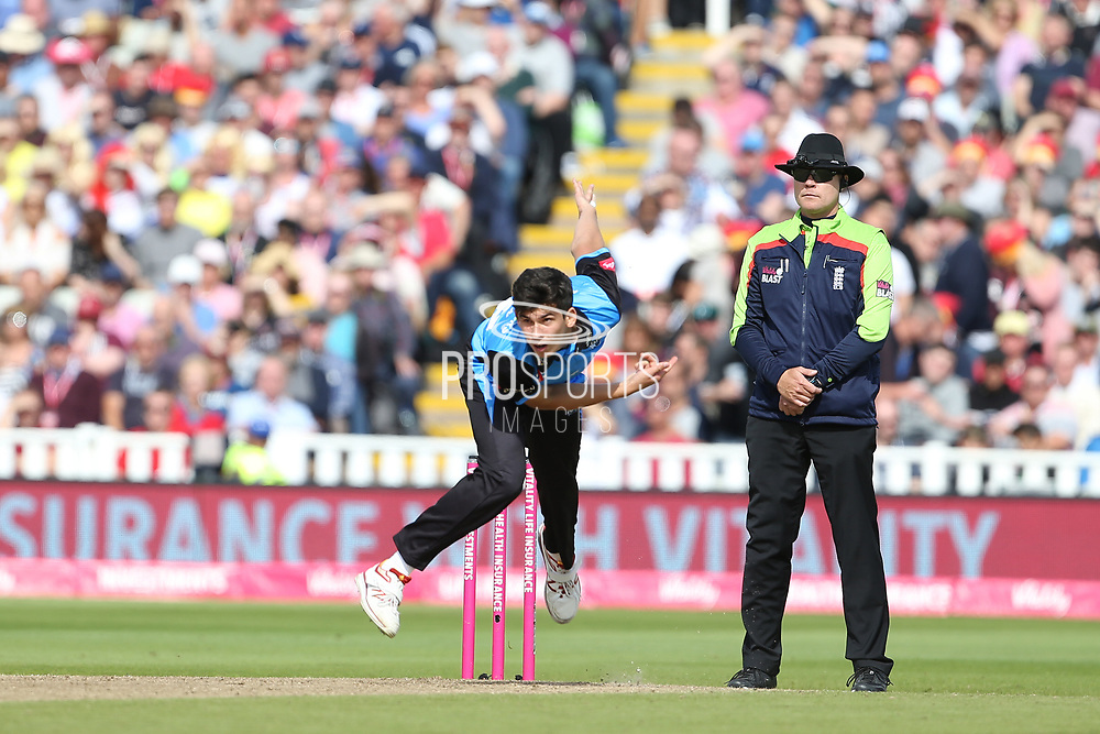 Worcestershire Rapids Pat Brown during the Vitality T20 Finals Day semi final 2018 match between Worcestershire Rapids and Lancashire Lightning at Edgbaston, Birmingham, United Kingdom on 15 September 2018.
