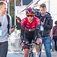 Kristoffer Halvorsen etter Tour of Norway sykkelritt etappe 2: Kvinesdal - Mandal.