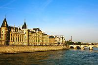 la Conciergerie Paris la seine  riverside Pont Neuf france