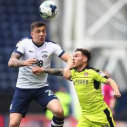 Jordan Hugill of Preston North End (L) in action - Mandatory by-line: Jack Phillips/JMP - 29/04/2017 - FOOTBALL - Deepdale - Preston, England - Preston North End v Rotherham United - Football League Championship