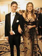 Cleo Pakenham and her escort David Hogan-Hern.Eleventh Crillon Haute Couture Ball, Crillon. Paris.   31 November 2001 © Copyright Photograph by Dafydd Jones 66 Stockwell Park Rd. London SW9 0DA Tel 020 7733 0108 www.dafjones.com