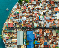 Aerial view of Cebu city residential district, Philippines.