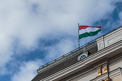 30.01.2018, Bundeskanzleramt, Wien, AUT, Orban auf Besuch in Oesterreich, im Bild die ungarische Flagge // austrian peoples party leader and Federal Chancellor of Austria Sebastian Kurz and Prime Minister of Hungary Viktor Orbán during a meeting at Federal Chancellors Office in Vienna, Austria on 2018/01/30. EXPA Pictures © 2018, PhotoCredit: EXPA/ Florian Schroetter