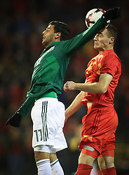 November 10, 2017 - Tubize, BELGIUM - Mexico's Carlos Vela and Belgium's Thomas Vermaelen fight for the ball during a soccer game between AFC Tubize and Lierse SK, in Tubize, Saturday 11 November 2017, on day 15 of the division 1B Proximus League competition of the Belgian soccer championship. BELGA PHOTO VIRGINIE LEFOUR (Credit Image: © Virginie Lefour/Belga via ZUMA Press)