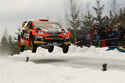 12.02.2015, Raga, Karlstad, SWE, FIA, WRC, Schweden Rallye, im Bild Martin Prokop/Jan Tomanek (Jipocar Czech National Team/Fiesta RS WRC) // during the WRC Sweden Rallye at the Raga in Karlstad, Sweden on 2015/02/12. EXPA Pictures © 2015, PhotoCredit: EXPA/ Eibner-Pressefoto/ Bermel<br /> <br /> *****ATTENTION - OUT of GER*****