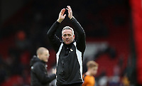 Football - 2016 / 2017 FA Cup - Fourth Round: Liverpool vs. Wolverhampton Wanderers<br /> <br /> Wolverhampton Wanderers manager Paul Lambert celebrates after the match at Anfield.<br /> <br /> COLORSPORT/LYNNE CAMERON