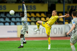 Eric Boakye of Olimpija vs Jost Urbancic of Domzale during football match between NK Domzale and NK Olimpija in 32nd Round of Prva liga Telekom Slovenije 2020/21, on May 5, 2021 in Sports park Domzale, Slovenia. Photo by Vid Ponikvar / Sportida