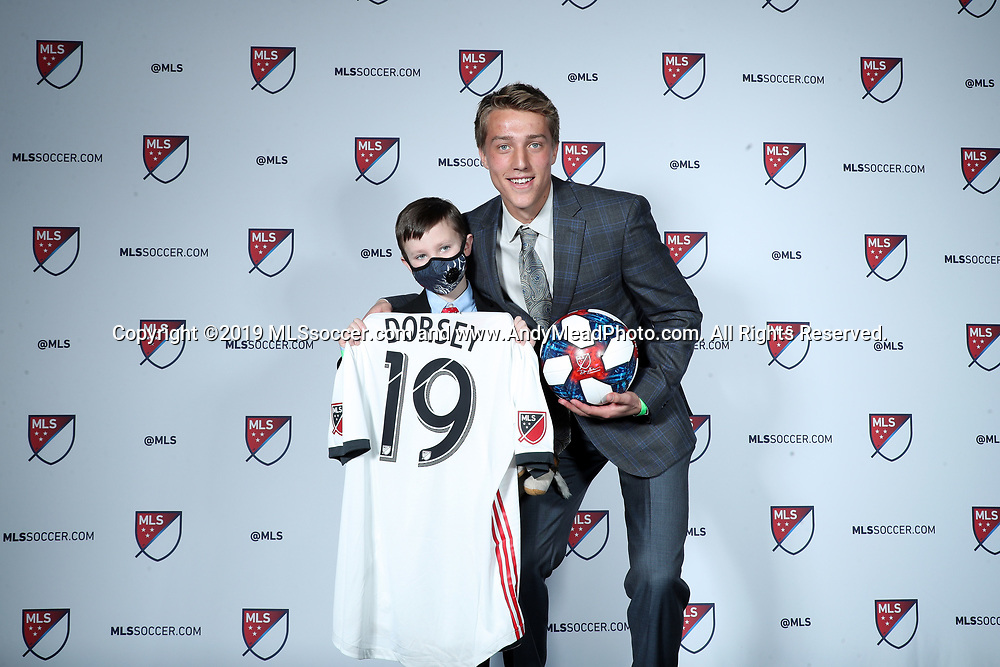 CHICAGO, IL - JANUARY 11: Griffin Dorsey was taken with the sixth overall pick by Toronto FC. With Caleb Anderson. The MLS SuperDraft 2019 presented by adidas was held on January 11, 2019 at McCormick Place in Chicago, IL.