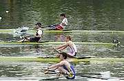 Hazewinkel. BELGUIM  GBR LM1X start 2004 GBR Rowing Trials - Rowing Course, Bloso, Hazewinkel. BELGUIM. [Mandatory Credit Peter Spurrier/ Intersport Images]