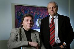 Os empresários Moacir Galbinski e Nilton Carvalho, representantes da inglesa Laura Ashley para a America Latina. FOTO: Jefferson Bernardes/Preview.com