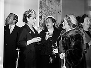 Margaret Burke Sheridan (second from right), La Scala Milan, at Inauguration of Italian Cultural Institute.<br /> <br /> 20/04/1954.<br /> <br /> Margaret Burke-Sheridan (15/10/1889-16/04/1958) was an Irish opera singer. Born in Castlebar, Co Mayo, Ireland, she was known as Maggie from Mayo and was regarded as Ireland's second Prima Donna (after Catherine Hayes (1818-1861)). She was a soprano and had performed at La Scala and Covent Garden for 12 years, where she enthralled the opera-goers. When she played the role of Madame Butterfly, Puccini was spellbound by her performance. <br /> <br /> Bríd Mahon stated on page 123 in her book While Green Grass Grows (1998) that, it was rumoured that an Italian, whose overtures was rejected by her and she had blown his brains out in a box in La Scala, Milan, while she was on stage. After the tragedy she had never sang in public again. She died in relative obscurity in 1958 and her remains was buried in Glasnevin cemetery, Dublin.