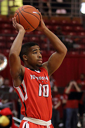 29 November 2014:  Marcus Keene during an NCAA men's basketball game between the Youngstown State Penguins and the Illinois State Redbirds  in Redbird Arena, Normal IL.