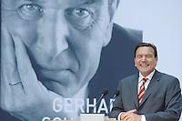 """26 OCT 2006, BERLIN/GERMANY:<br /> Gerhard Schroeder, SPD, Bundeskanzler a.D., waehrend einer Pressekonferenz zur Vorstellung seines Buches """"Entscheidungen. Mein Leben in der Politik"""", Willy-Brandt-Haus<br /> IMAGE: 20061026-01-043<br /> KEYWORDS: Gerhard Schröder, Autobiografie, Biografie, Buch, lacht, lachend, freundlich"""