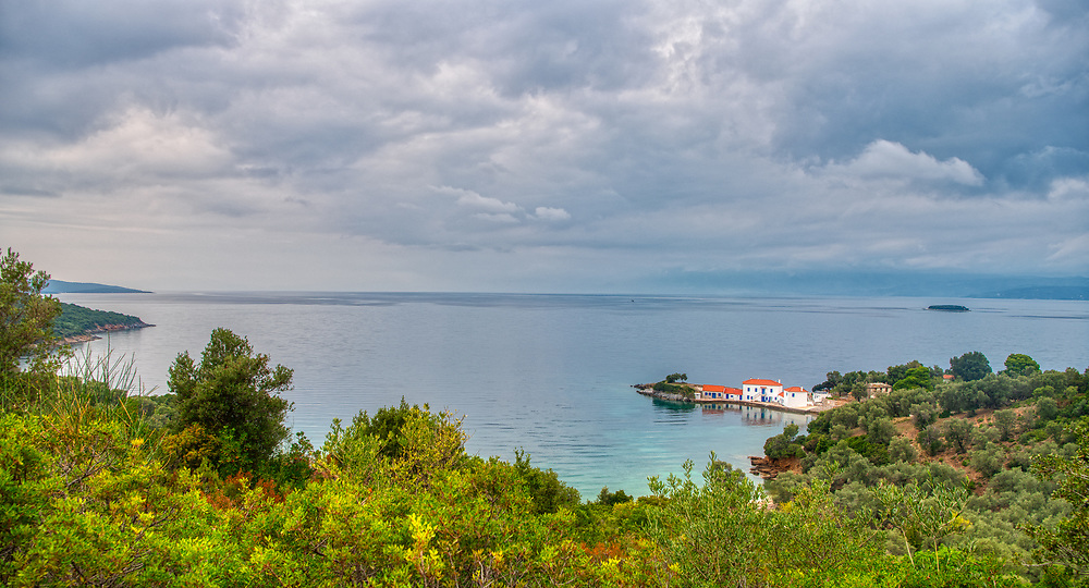 View of Tzastene, Pelion, Greece.
