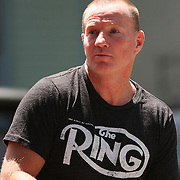 Boxer Micky Ward is seen in the parade of champions during the 2013 International Boxing Hall of Fame induction ceremony  on Sunday, June 9, 2013 in Canastota, New York.  (AP Photo/Alex Menendez)