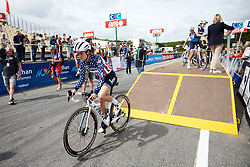 Ruth Winder (USA) at sign on for GP de Plouay - Lorient Agglomération Trophée WNT, a 128 km road race in Plouay, France on August 31, 2019. Photo by Sean Robinson/velofocus.com