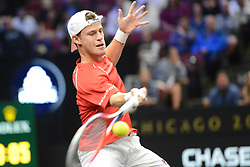 September 21, 2018 - Chicago, Illinois, United States - DIEGO SCHWARTZMAN in action in the 2018 Laver Cup tennis event in Chicago. (Credit Image: © Christopher Levy/ZUMA Wire)