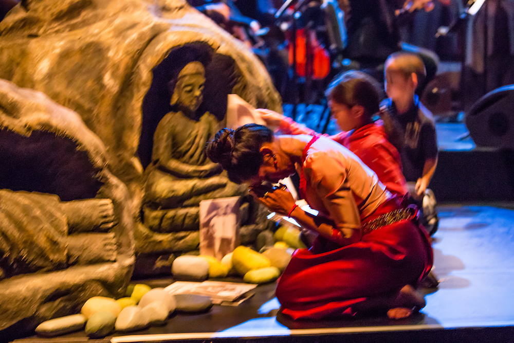 Brooklyn,  NY - 14 December 2017. Dress rehearsal of Bangsokol: A Reqiuem for Cambodia, directed and designed by Rithy Panh, music byHim Sophy, libretto by Trent Walker, at the Brooklyn Academy of Music's Howard Gilman Opera House.