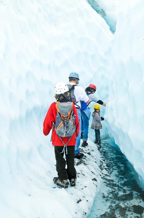 Palmer, Alaska.Trekking on Matanuska Glacier with James and Juliana Whitaker Aikins.  . MR