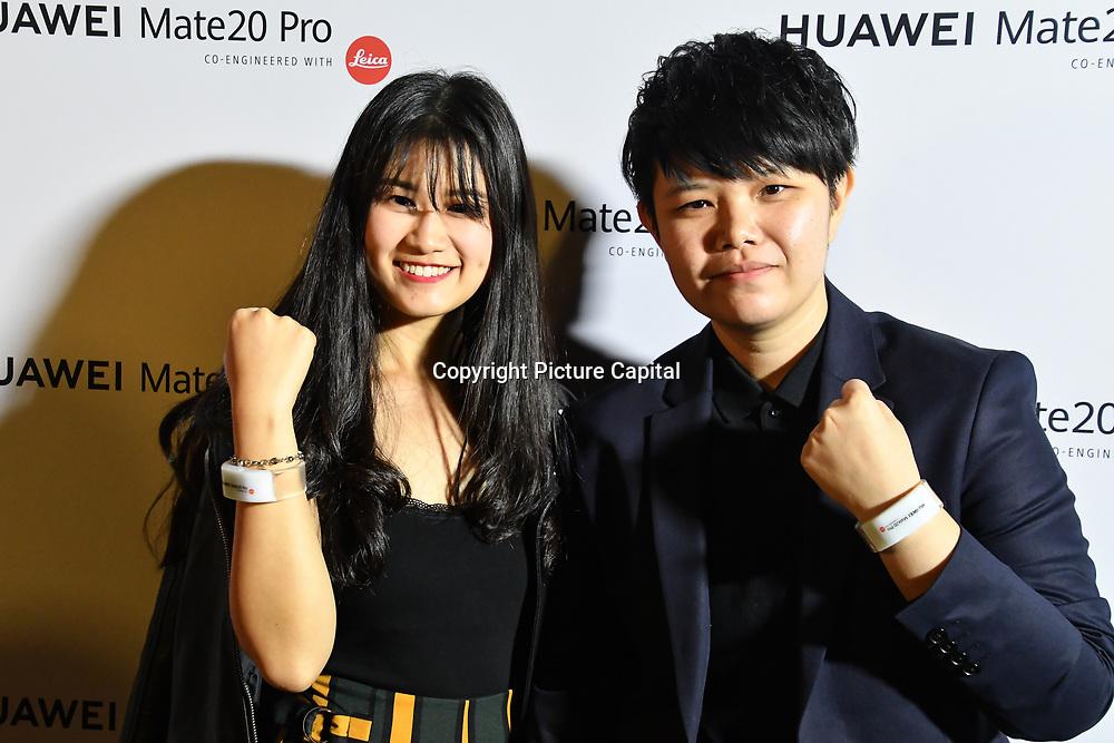 Cheng Ping Chong and Wai Wai Yee attend Huawei - VIP celebration at One Marylebone London, UK. 16 October 2018.