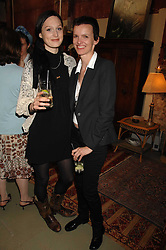 Left to right, ROWAN SWANSON and BETTINA VON HASE at a party to celebrate the publication of 'The Scent Trail' by Celia Lyttelton held at the London Studio of Paul Benney, 760 Harrow Road, London NW10 on 10th July 2007.<br />
