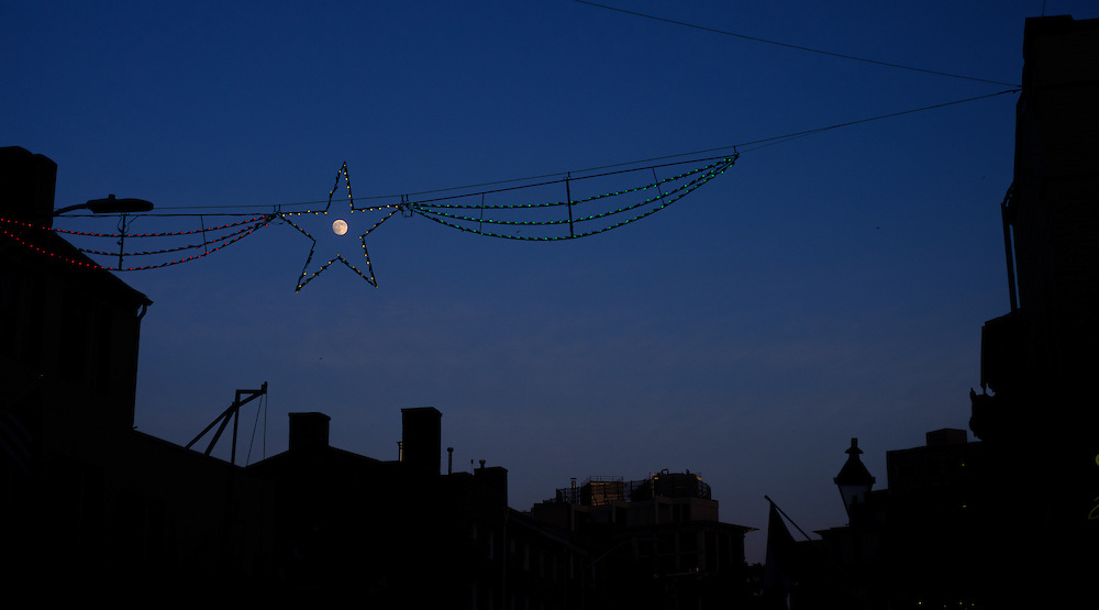 Moon and star, Littly Italy, Baltimore.