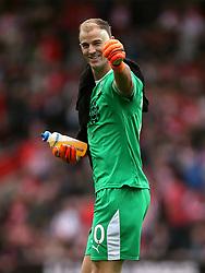 Burnley goalkeeper Joe Hart at half-time