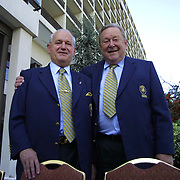 UEFA's Executive Committee met in Istanbul.  Historical meeting in Istanbul UEFA's Executive Committee. His toenails broken because of that he was walking with slepers Lennart Johansson.  Lennart Johansson with Senez ERZIK during their Hilton Hotel in Istanbul.<br /> Photo by Aykut AKICI/TurkSporFoto