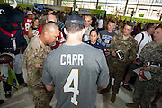 January 27 2016: Oakland Raiders David Carr signs autographs during the Pro Bowl Draft at Wheeler Army Base on Oahu, HI. (Photo by Aric Becker/Icon Sportswire)