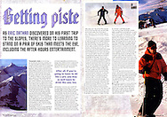 Tear sheet from TNT magazine of an article I wrote and photographed on skiing in Austria.