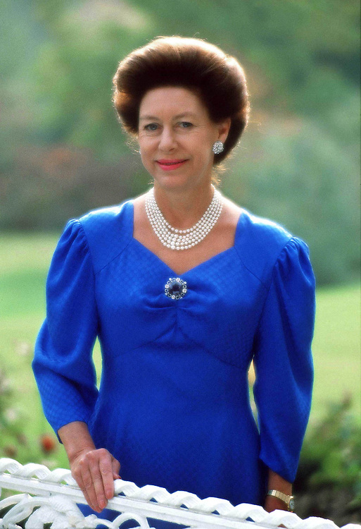 Princess Margaret seen in the garden of her home Kensington Palace, London in 1988. Exclusive photograph by Jayne Fincher