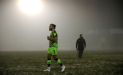 Dominic Bernard of Forest Green Rovers at the final whistle after the game is called off due to bad weather conditions- Mandatory by-line: Nizaam Jones/JMP - 02/01/2021 - FOOTBALL - innocent New Lawn Stadium - Nailsworth, England - Forest Green Rovers v Oldham Athletic - Sky Bet League Two