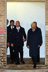 VISITA PRESIDENTE REPUBBLICA SERGIO MATTARELLA MOSTRA DE CHIRICO E CASTELLO<br /> VISITA PRESIDENTE REPUBBLICA SERGIO MATTARELLA MOSTRA DE CHIRICO E CASTELLO<br /> FERRARA 13-11-2015<br /> FOTO FILIPPO RUBIN