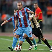 Trabzonspor's Serkan BALCI during their UEFA Champions League third qualifying round, second leg, soccer match Trabzonspor between Benfica at the Ataturk Olimpiyat Stadium at İstanbul Turkey on Wednesday, 03 August 2011. Photo by TURKPIX