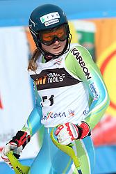 Ana Drev at first run of 9th men's slalom race of Audi FIS Ski World Cup, Pokal Vitranc,  in Podkoren, Kranjska Gora, Slovenia, on March 1, 2009. (Photo by Vid Ponikvar / Sportida)