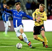 Fotball , 29 . oktober 2017 , Eliteserien , <br /> Sarpsborg - Sandefjord 5-0<br /> <br /> Patrick Mortensen , Sarpsborg<br /> Andre Søderlund , Sandefjord