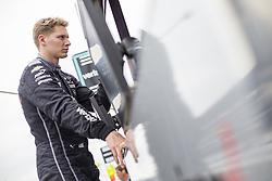 May 18, 2018 - Indianapolis, Indiana, United States of America - JOSEF NEWGARDEN (1) of the United States hangs out at his pit stall during ''Fast Friday'' practice for the Indianapolis 500 at the Indianapolis Motor Speedway in Indianapolis, Indiana. (Credit Image: © Chris Owens Asp Inc/ASP via ZUMA Wire)